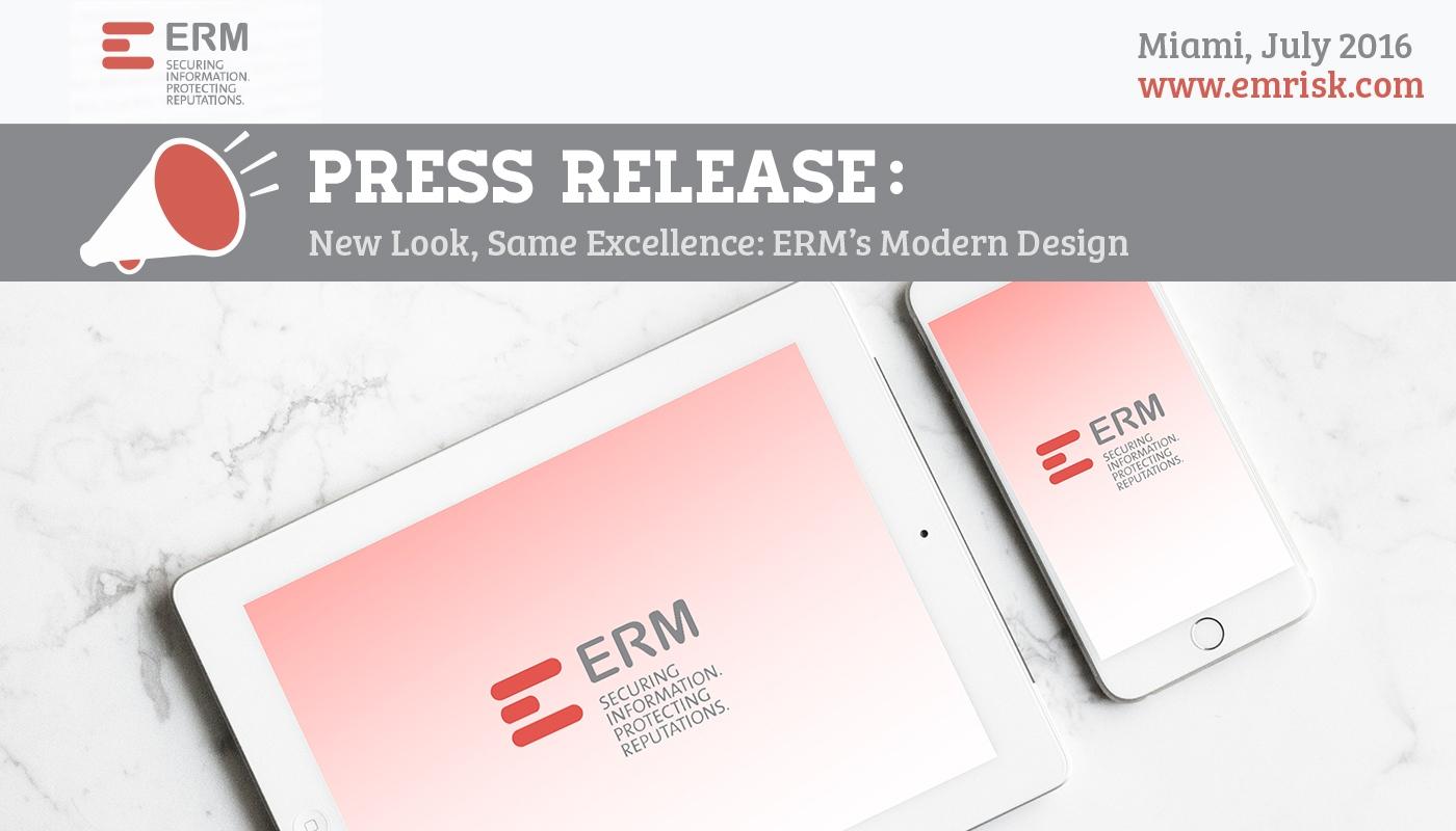 ERM Press Release Rebranding